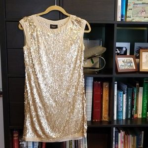 Gold sequin Laundry Shift dress size 0